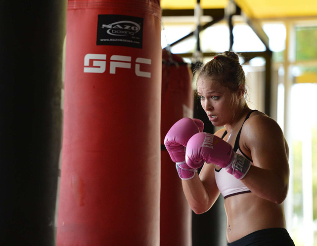 Ronda Rousey works out during a Oct. 2012 SI photo shoot in Glendale, Calif. On Tuesday, UFC president Dana White announced that Rousey will headline UFC's first female division. (Robert Beck/SI) SEGURA: Rousey to become first female UFC fighter