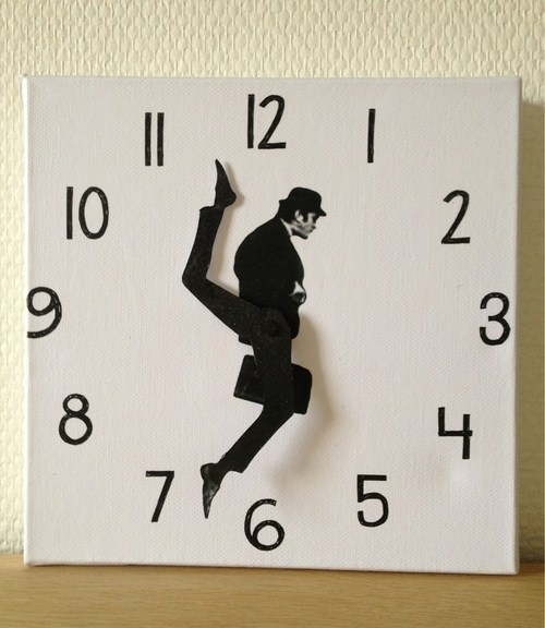 thedailywhat:  Ministry Of Silly Clocks of the Day: At any given time, Monty Python's John Cleese is doing something silly. The artist explains how she made it. [laughingsquid]