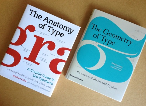 typeanatomy:  The Anatomy of Type: A Graphic Guide to 100 Typefaces  Students and professionals in any creative field can benefit from a good typographic eye. The Anatomy of Type (published in the UK as The Geometry of Type) is all about looking more closely at letters. Through visual diagrams and practical descriptions, you'll learn how to distinguish between related typefaces and see how the attributes of letterforms (such as contrast, detail, and proportion) affect the mood, readability, and use of each typeface. Nutritional value aside, the spreads full of big type are nice eye candy, too.  The typefaces featured in the book are hand-picked by the author for their functionality and stylistic relevance in today's design landscape. Along with several familiar faces (such as Garamond, Bodoni, Gill Sans, and Helvetica), you'll also discover contemporary fonts that are less common — and often more useful — than the overused classics.  This website will be updated with errata and further resources related the book's content. Subscribe to the RSS feed or follow on Tumblr for updates.