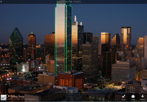 Dallas travel guide iPad