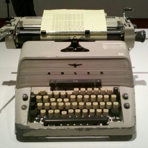cmonstah:  Stanley Kubrick awesomeness from @lacma: the typewriter from The Shining. (at Los Angeles County Museum of Art (LACMA))
