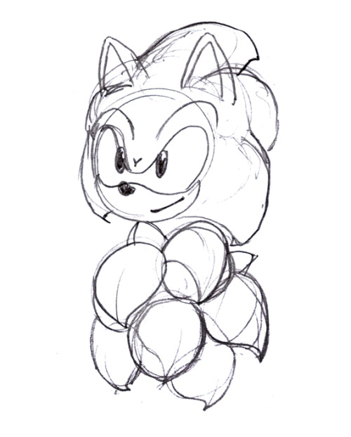 Sketch A Day 010 Modern Sonic spike study.