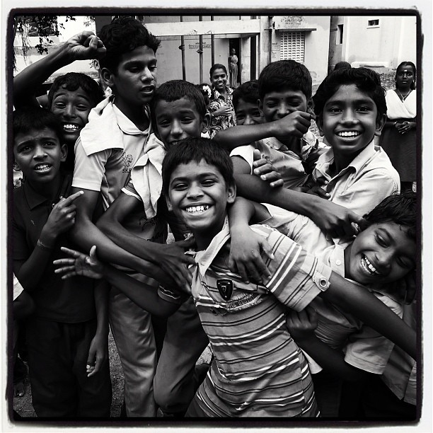 Camera Craze (Leica DL5 w/IG Lofi) #100cameras #NGO #004india #ellisnagar #India #leicacameras #boys #RussFoundation #portraits #humanitarian  (at Madurai, India)