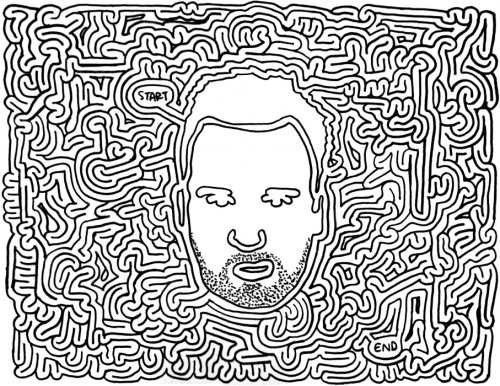 Copped from Eric Jerckert's Mazes, the Ed Templeton maze is mind blowing! Check out the website for more cool mazes!