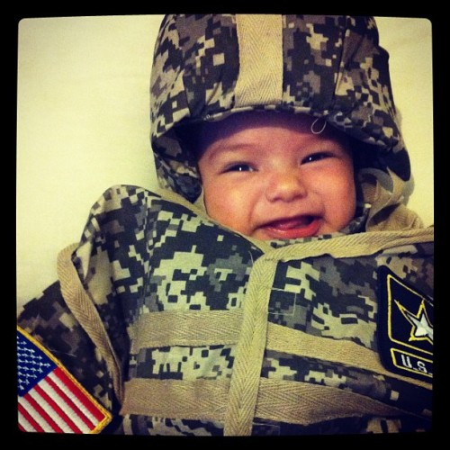 Our little US Army soldier #supportthetroops