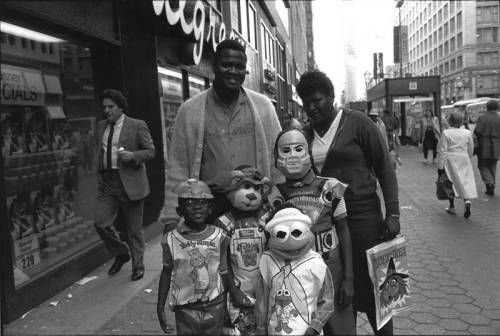 chicagohistorymuseum:  Teddy Ruxpin, Kermit, and friends trick-or-treating in the Loop. c. 1987-1988. Photograph by Thomas Arndt.  Want a copy of this photo?  > Visit our Rights and Reproductions Department and give them this number: ICHi-65906 Connect with the Museum