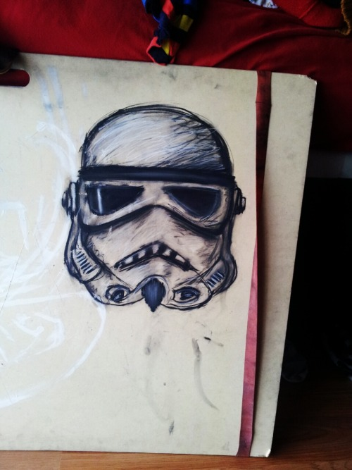 I love to draw stormtroopers.
