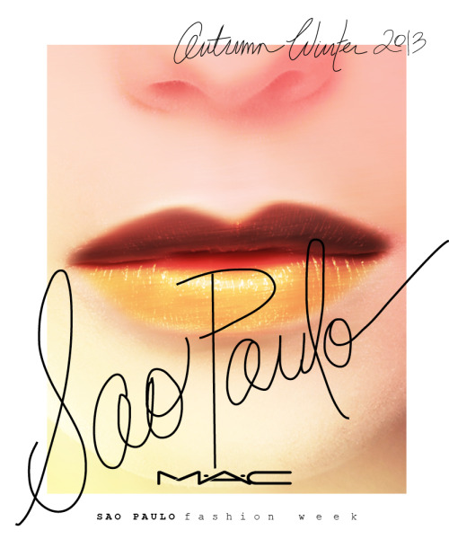 maccosmetics:  Up Close, Backstage and Behind-the-Scenes at AW13 São Paulo Fashion Week  # getintoit
