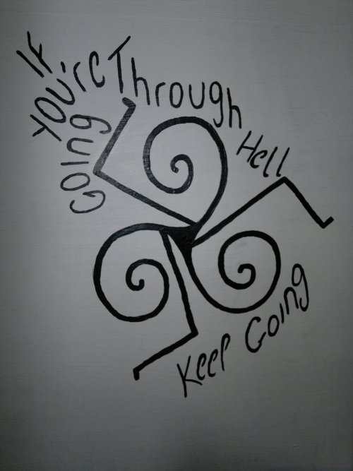 A doodle that is on my wall. Just thought I'd share it with everyone! ^_^