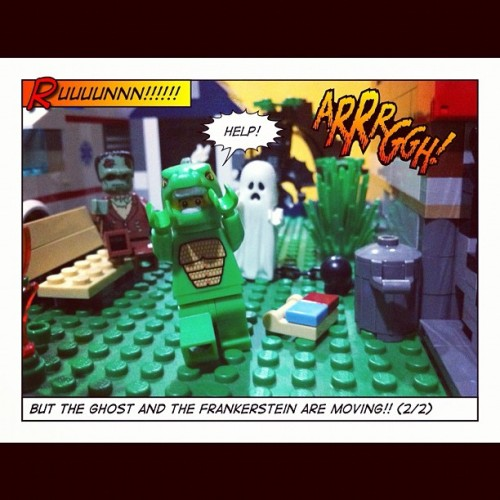 This is what happened when the ghosts start moving! (2/2) #lego #legography #legostagram #toys #toycrewlego #toycrewbuddies #toyphotography #ghost #halloween