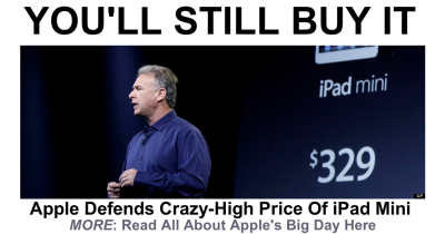 iPad Mini Price Defended By Apple Exec Phil Schiller