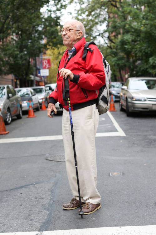 "humansofnewyork:  ""Where are you hiking?"" ""The liquor store.""  i love this man."