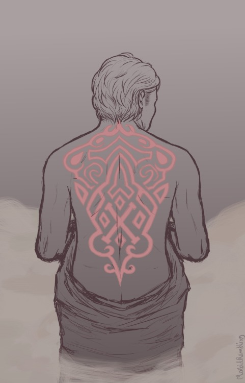 morbidrambling:  I've had this image of Charles and tattoos floating around in my head for a while now. I could have put more thought into the design of the tattoo thing (as is painfully obvious haha) but I just needed it to be something with an X in it and sketch it quickly. Also, symmetry is a bitch. So is anatomy. Oh well. Aaand anyone is welcome to prompt me things to draw. New ideas would come in handy when I'm fighting art block again.