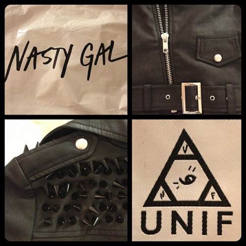 My new leather coat from NastyGal and Unif arrived just in time for the brisk nights of Fall! Can't wait to break this bad boy in.