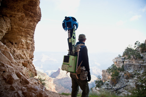 "Google Takes Street View Tech Into The Grand Canyon Whatever your opinion is on the tech giant, you've got to give your hats off to Google for trying, and trying hard with Google Maps! This is kind of amazing. Now, here's hoping mobile phone operators will also keep expanding their reach!  wired:  Google Maps has officially stepped into what may be its most difficult challenge yet — mapping the alleys, ledges and trails of the world unreachable by Street View's cars, tricycles and snowmobiles. The effort formally began on foot Monday as Google took three of its Trekker backpacks down into the Grand Canyon for the new gadgetry's maiden voyage.  ""We want to be comprehensive with maps. We want to go everywhere,"" said Luc Vincent, the senior engineer who oversaw Trekker's development. ""That's what we are about. And so we could not possibly be comprehensive without this. It's our core mission with Street View."""