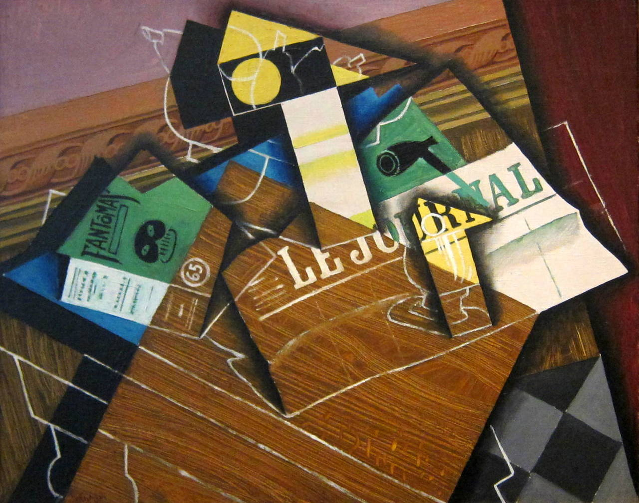 blastedheath:  88pp Juan Gris (Spanish, 1887-1927), Fantômas (Pipe and Newspaper), 1915. Oil on canvas, 59.8 x 73.3 cm. National Gallery of Art, Washington, D.C.