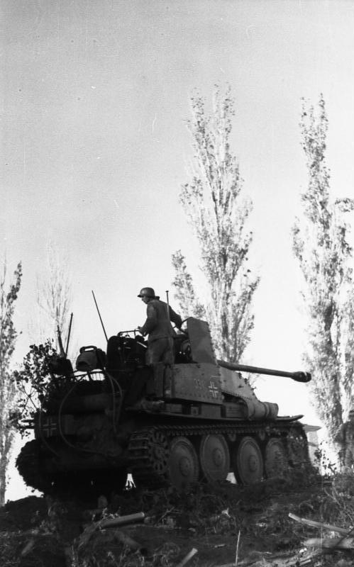 Marder III tank destroyer near Stalingrad, Russia, summer 1942  Rad photo.