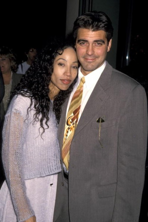 George Clooney & Kimberly Russell, 1994. Russell is an actress best known for starring on Head of the Class and the two reportedly dated shortly after Clooney's divorce.