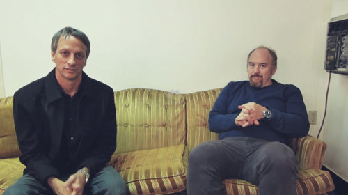 "Louis C.k. Gives One Of His More Interesting Interviews Ever To… Tony Hawk?Skateboard legend Tony Hawk recently launched a new YouTube channel, and even though I'm not sure exactly what constitutes a successful YouTube channel I'm certain his will be one because ""Score access to Louis C.K."" is phase one to the underpants gnomes' guide to the internet. Tony caught up with Louis backstage before (or maybe after) his set at The Masonic in Detroit the other night and they sat on a couch and chatted like two likable dudes who have maybe met once or twice before but aren't super comfortable with each other. Source: Uproxx"