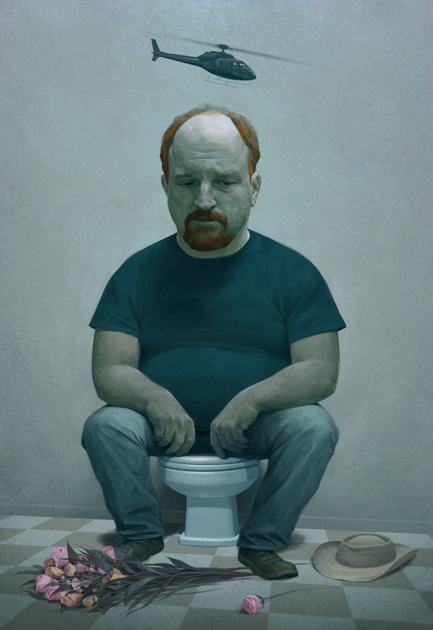 mainstreamrevolution:  Louis CK by Jeremy Enecio.