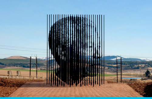 secondsminuteshours:  Sculpture for Mandela on wjs magazine.