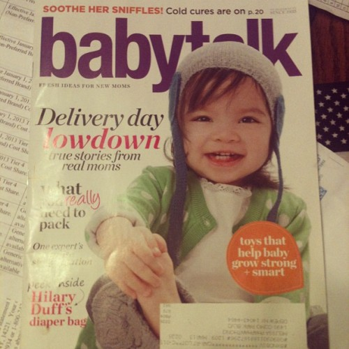Day 24: magazine I've been getting free baby stuff. I haven't idea why.