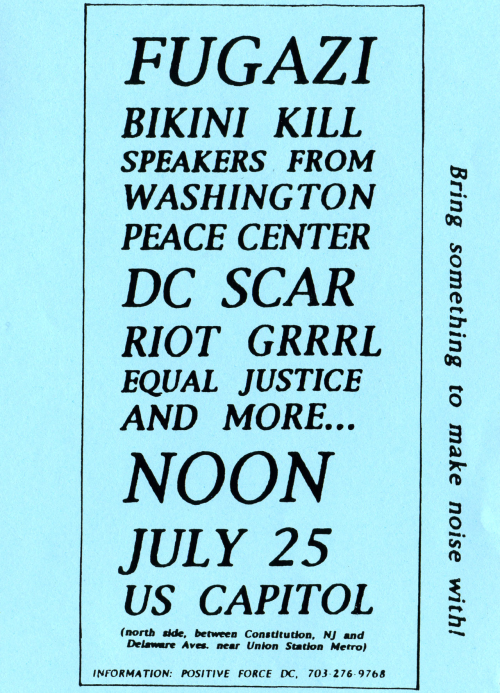 abelson:  fugazi for speaker of the house. bikini kill for majority whip. randy newman for prez.