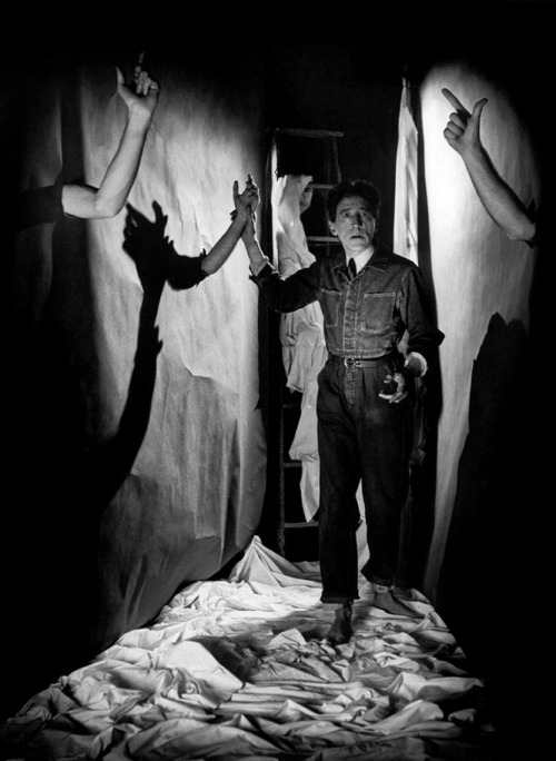 "oldhollywood:  ""This sickness, to express oneself. What is it?"" -Jean Cocteau (The Paris Review, 1964) Photo by Philippe Halsman (via)"