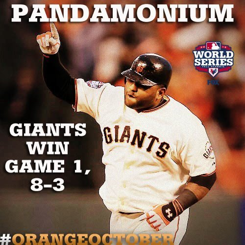 samihiggins:  First blood!!!! GO GIANTS!!!!  #pandamonium