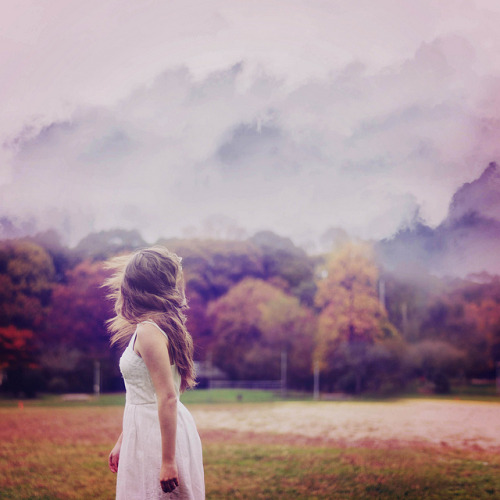 hair girl Cool dress white sky Awesome trees purple clouds nature watercolor forest color new flip 365 moving on ikasetyowati gina vasquez ginaballerina ornge purpleblue