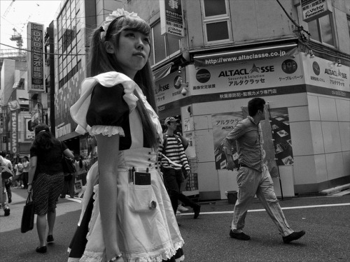 Maid in Akihabara. by Peter Bellars on Flickr.