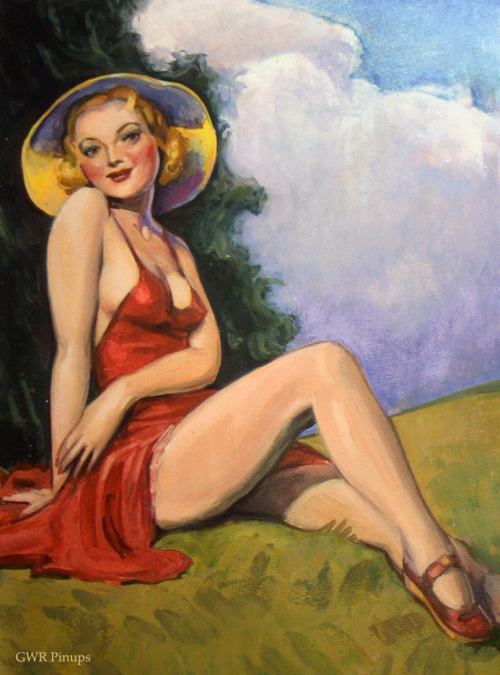 gwrpinups:  Indian summer. After H. J. Ward.