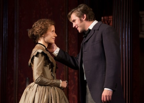 theatricalmumblings:  Jessica Chastain and Dan Stevens in The Heiress.
