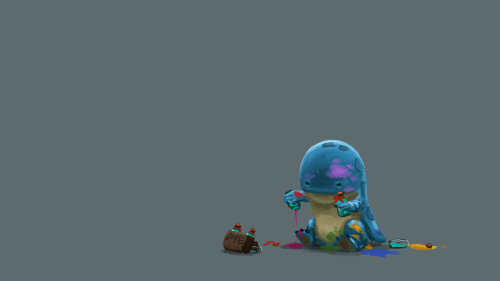 Guild Wars 2 Fanart - Baby Quaggan wants rare dye! by ~Jeffufu
