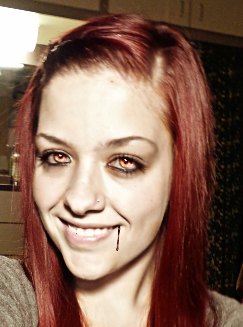 In honor of Halloween, I turned myself in a vampire! :D