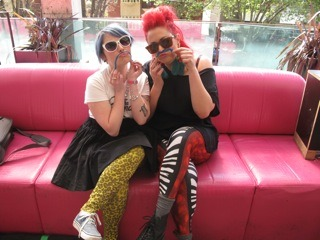 DALLAS FRASCA and I behind the scenes on Balcony TV Melbourne