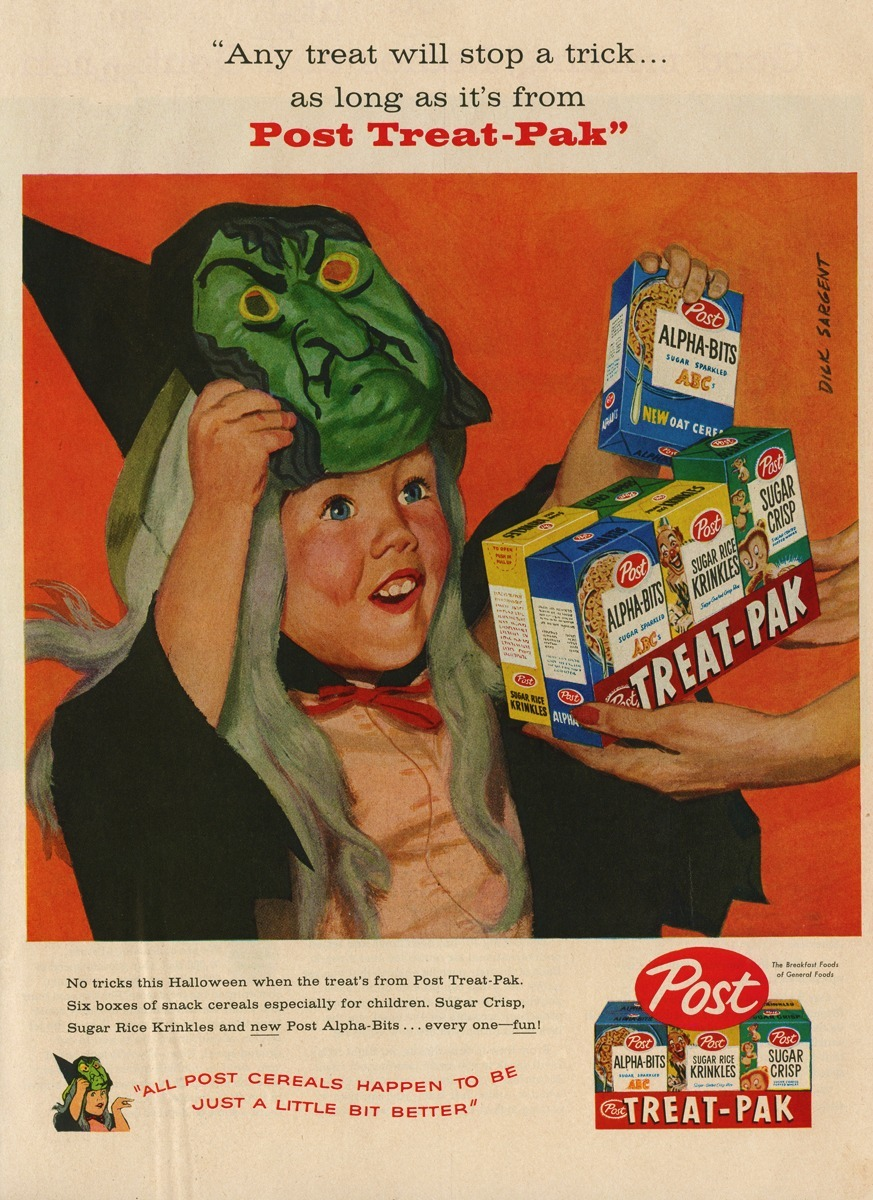 Post Cereal Treat Pak, 1958