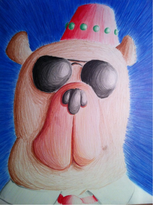 It's a bear I drew using some fancy coloring pencils