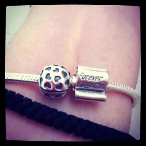 Loving my pandora bracelet given by @choke86.. Cant wait to start my journey collection.. Each yr one charm??