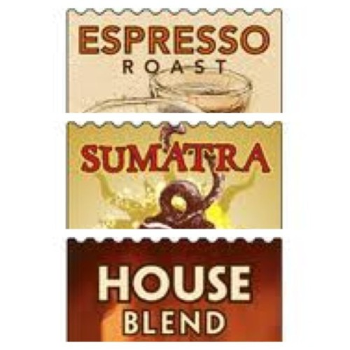 My three favorite coffee. :) #EspressoRoast #Sumatra #HouseBlend #