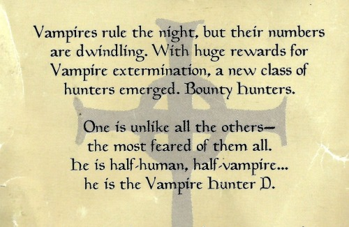 fyvampirehunterd:  from The Art Of Vampire Hunter D: Bloodlust (my scan)