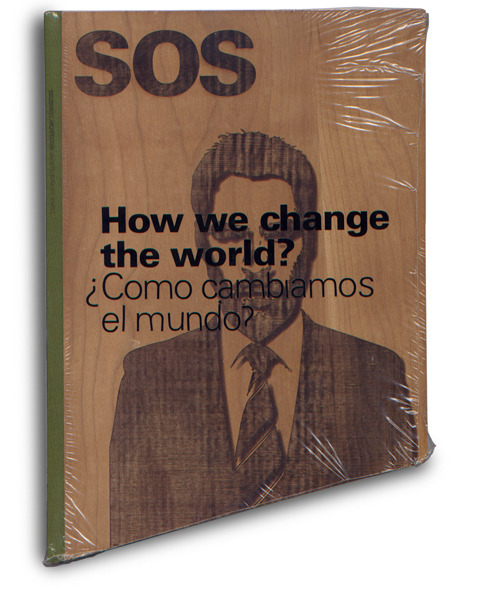 SOS Magazine by Guillem Casasús Xercavins Magazine for Sustainable Architecture. Every publication has a different angle, and when all the magazines are placed together, they resemble a sustainable house