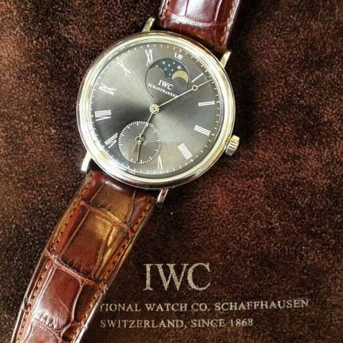#IWC Portofino Hand-Wound Whitegold with Ardoise Dial (at IWC Headquarters)
