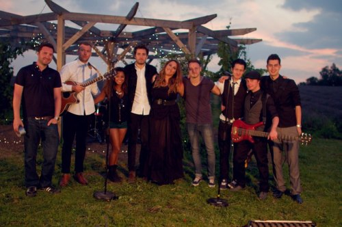 """Salt"" Behind the Scenes Josh with sister Elissa Franceschi and her band and crew in the set for the upcoming music video"
