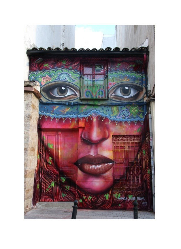 Great collab piece by Spain's Belin (www.belin.es/graffiti). This photo via www.facebook.com/pages/The-Real-Art-of-Street-Art/136382576475788.