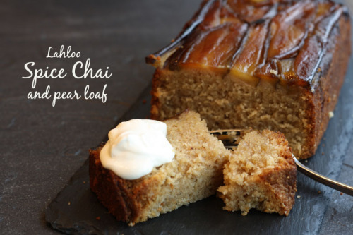 Spice Chai and pear loaf