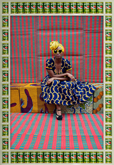 coloursandpatterns:  Nice dress, nice pattern :) Photo by Hassan Hajjaj, rockstar portraits. On Guardian online