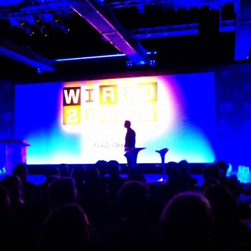A silhouetted David Rowan @iRowan looks on at Wired 2012 conference #Wired12
