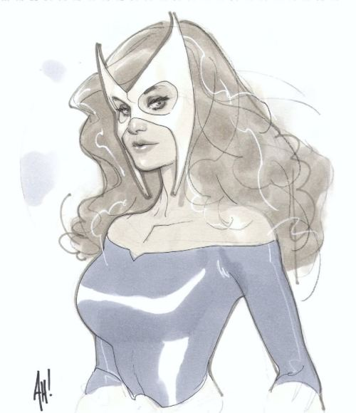 marvelwomenkickingass:  Marvel Girl by Adam Hughes
