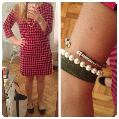 #OOTD: My H&M #houndstooth dress mentioned in last Friday's post and a sneak peek of tomorrow's giveaway!!!